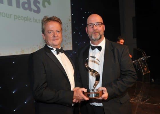 Bucks Business Leader of the Year Award - with Host