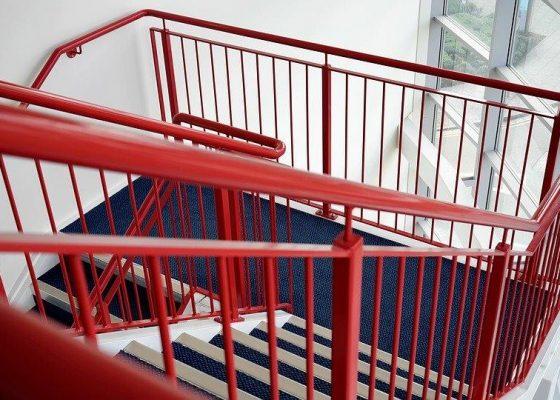 Handrail for public buildings